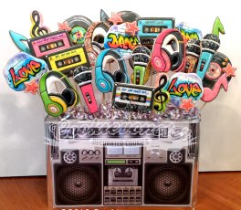 Boom Box Cookie bouquet