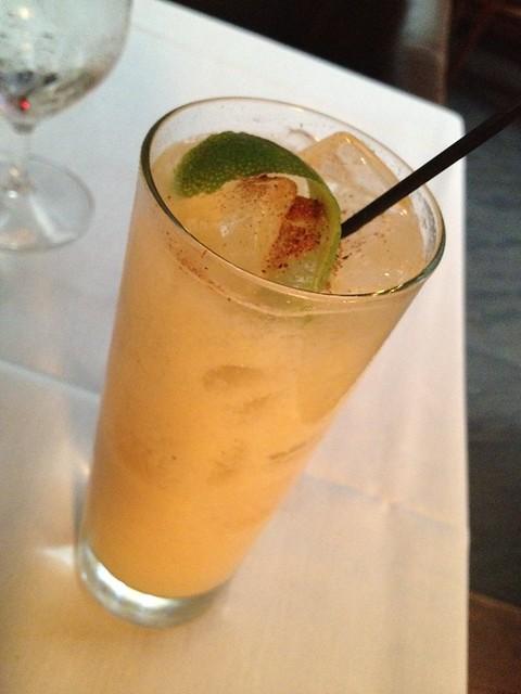 Anson Mills Carolina Gold horchata cocktail - McCrady's Restaurant