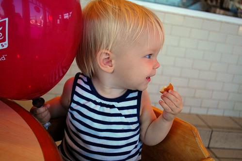 Balloon + donut = bliss.