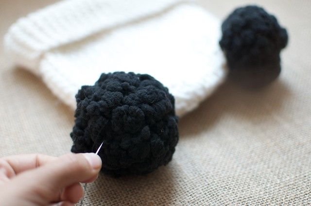 blogger Geneva Vanderzeil makes a DIY double pom pom beanie 10