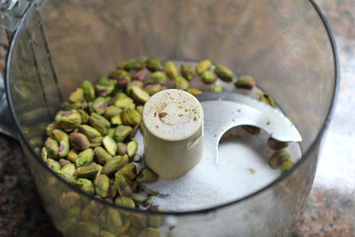 pistachios and sugar