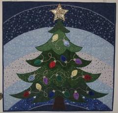 AnitaGoodesign  Christmas Tree Crazy Quilt