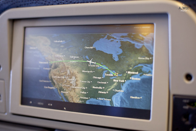 Air Canada Inflight Screen
