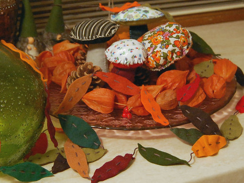 Studio Paars - autumn leaf garland felt fall vilt herfst slinger blaadjes