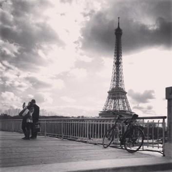 Selfie at the Tour Eiffel Paris, France (March 1, 2014)