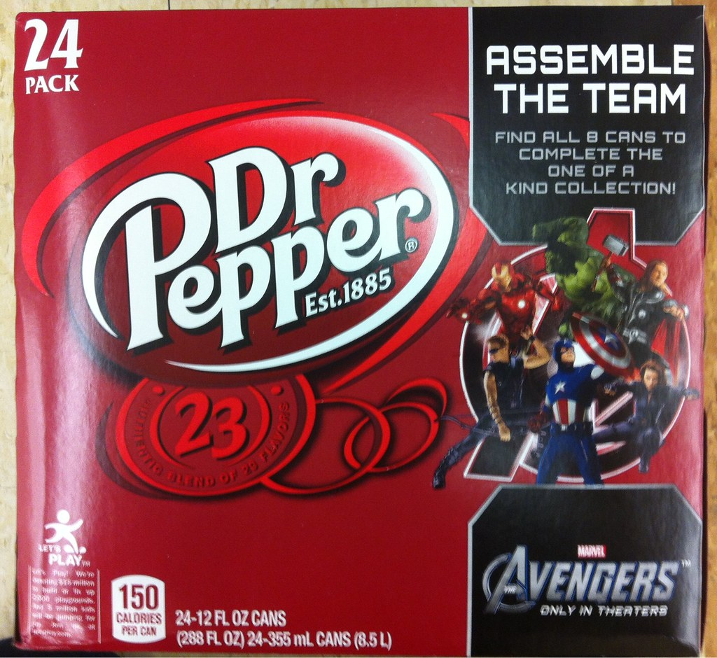 Dr Pepper Avengers 24 pack