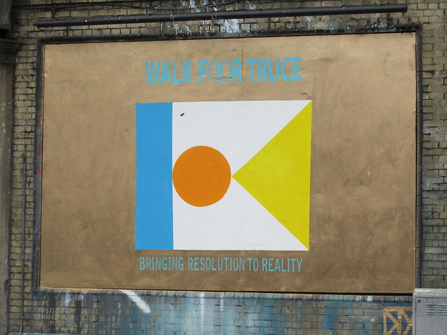 'Walk For Truce', Shoreditch Ad Wall