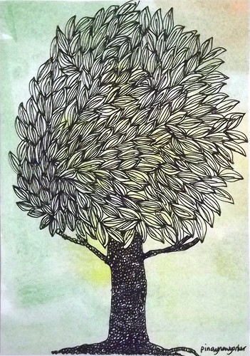 POSTCARD: Mail Art: Trees 1