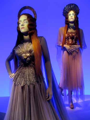 Front: Auréole gown. Back: Communion dress. Both from the Virgins collection, haute couture SS 2007.
