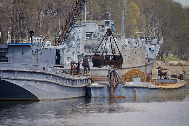 USS Pueblo and Bucket Dredge