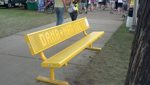 bench at fair