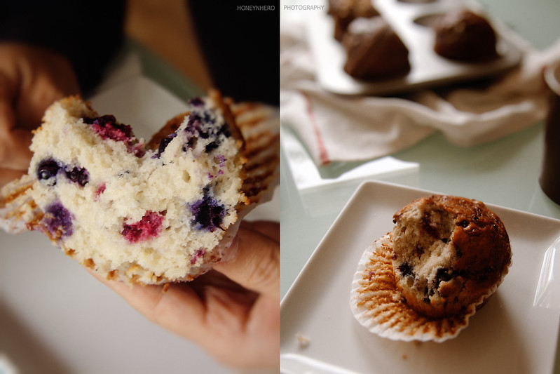 berry color of berry muffin