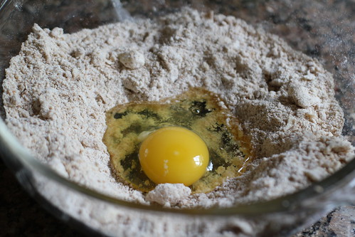 add an egg to streusel topping