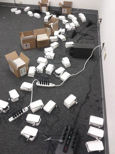 NinjaTel phones being charged