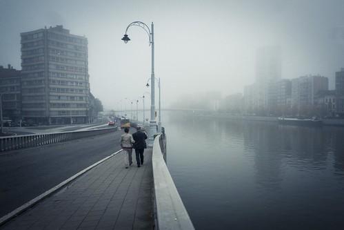 Life is a misty river... (Liège, Belgique) - Photo : Gilderic