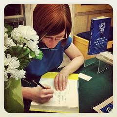 @maggiekb1 book signing. :)