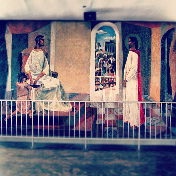 UP Chapel of the Holy Sacrifice • Around the chapel are 15 large murals painted by Vicente Manansala depicting the Stations of the Cross #iger #visitaiglesia #churches #philippinechurches #religion #instamatic #instaphoto #instagood #instahub #instaphotog