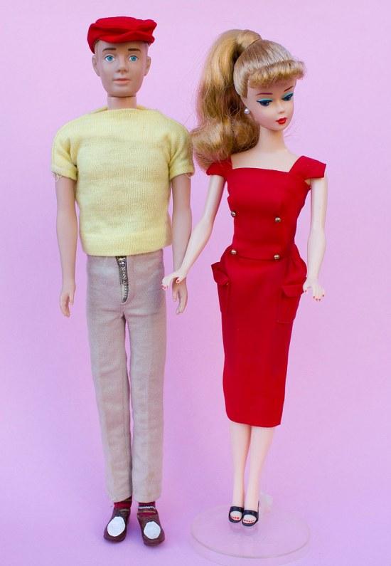 Vintage Ken & Repro Barbie