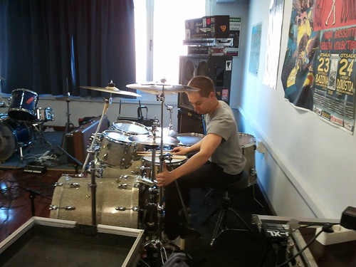 primer día de grabación con diego a la bateria