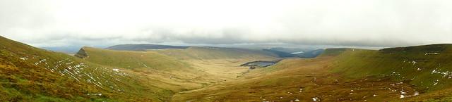 Valley panorama - Brecon Beacons