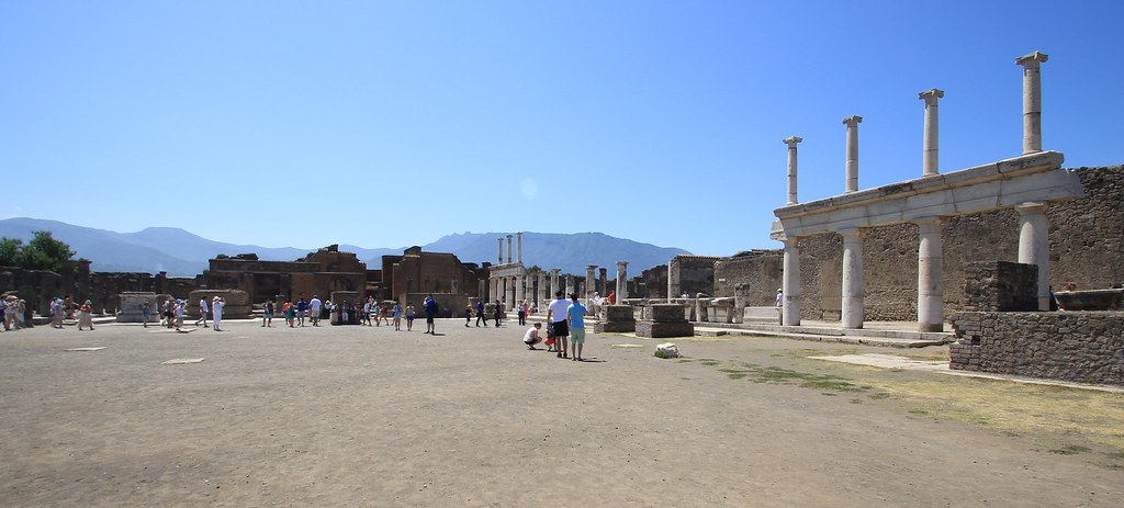 Main Square Ruins - Pompeii, Italy