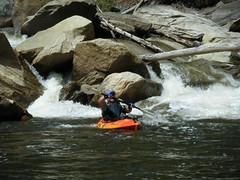 Stephen running the rapids
