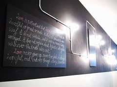 Blackboard and lights, Saveur, 5 Purvis Street