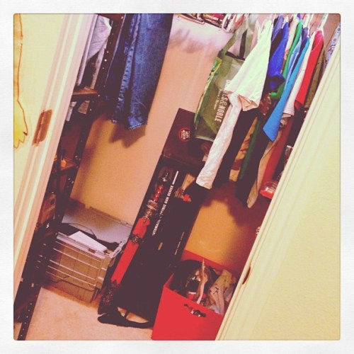 And there is FLOOR in my 15yo's closet for the first time in a year. Just in time for the carpet installer at 8am. Then to sell the house. ❕
