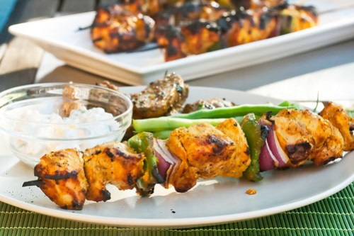 Indian-Spiced Turkey Skewers