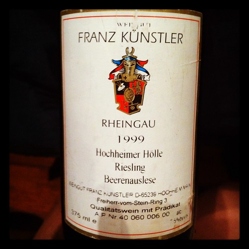 Franz Kunstler Hochheimer Holle Beerenauslese Riesling 1999