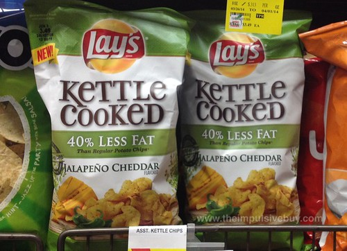 Lay's Kettle Cooked 40% Less Fat Jalapeno Cheddar Potato Chips