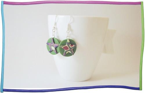 orecchini stella verde