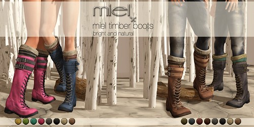 MIEL TIMBER BOOTS by Miel @ The Deck