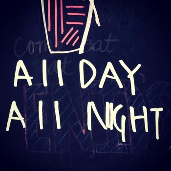 All Day All Night Enid's #greenpoint #brooklyn #sign #chalkboard