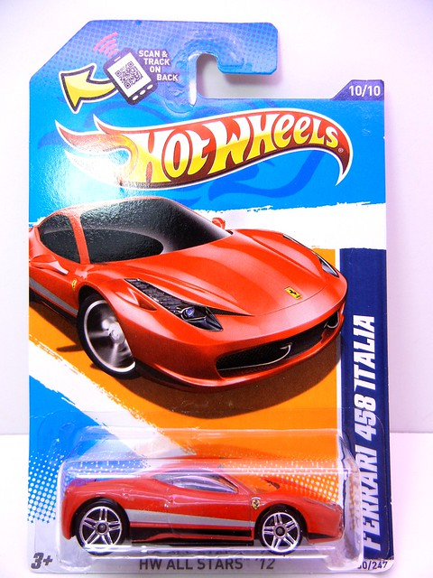 hot wheels ferrari 458 italia stripes  (1)