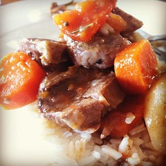 Slow cooked lamb... My first attempt at using my new slow cooker... :)
