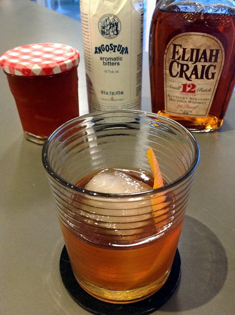 Omar Bradley: Elijah Craig bourbon, bitter orange marmalade, Angostura bitters