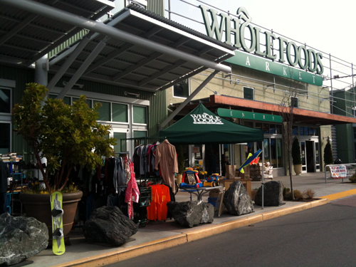 Whole Foods parking lot sale