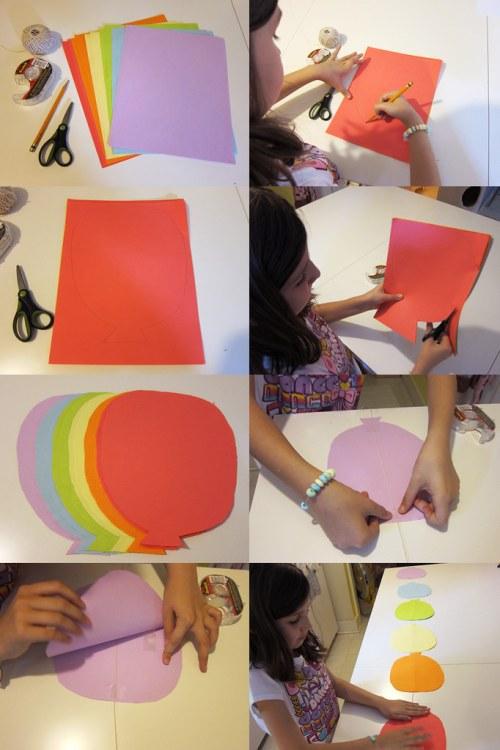 Paper Balloon Garland