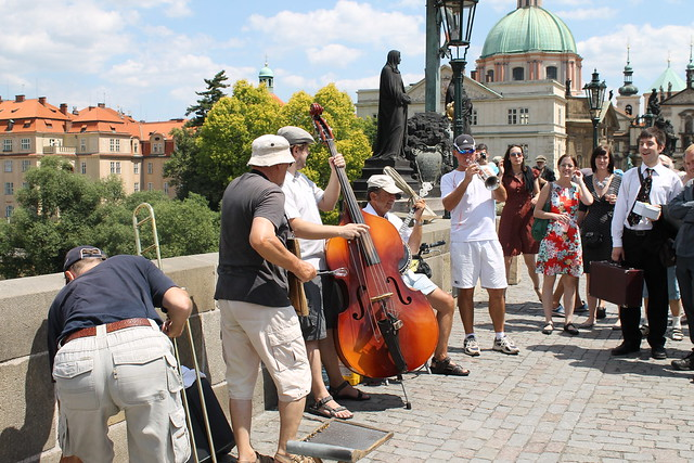 Bridge Band on Karlův most