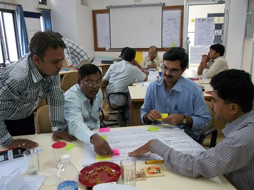 The imGoats Rajasthan team works on a group exercise during the imGoats learning and reflection workshop