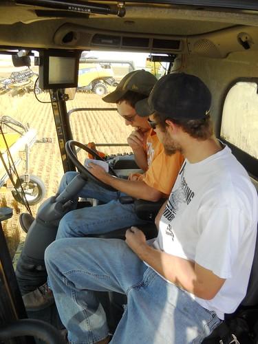 Brandon and James work on settings