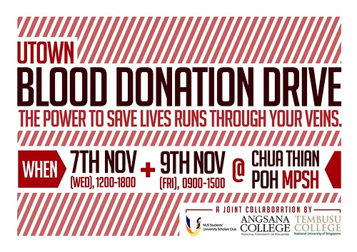 NUS UTown Blood Donation Drive 2012