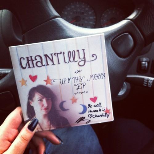 #imlisteningto Chantilly on my way to work. @chantillysongs