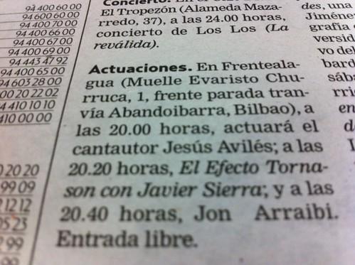 Reseña Prensa Actuaciones Frentealagua by LaVisitaComunicacion