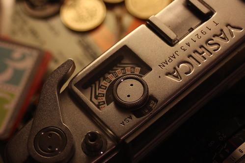 Yashica Minister - Test Shot - Canon 60D/PK Fit Vivitar 28mm 1:2.8 lens + Vivitar MC 2x Teleconverter by TempusVolat