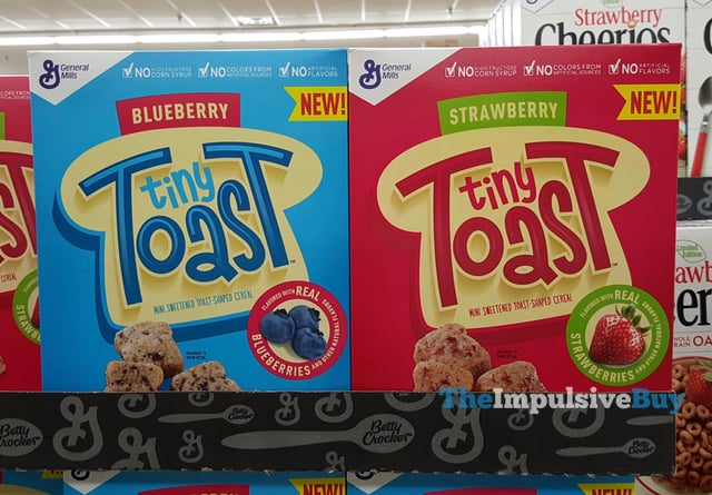 General Mills Blueberry and Strawberry Tiny Toast Cereal