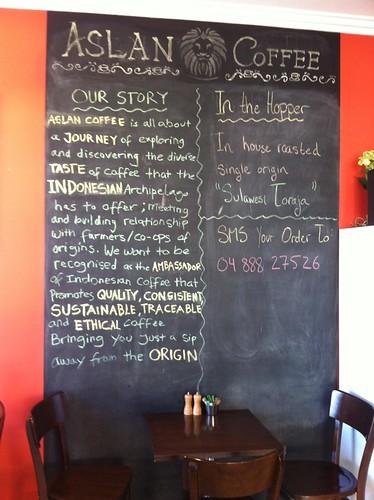 Blackboard - Aslan Coffee, St Peters