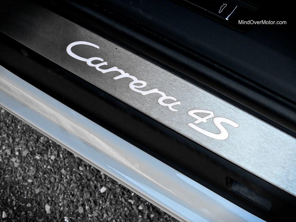2014 Porsche 991 Carrera 4S Cabriolet door plate