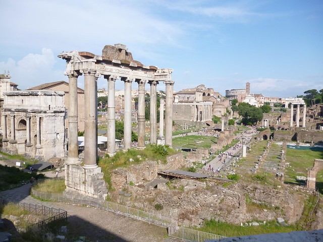 Parts of the Roman Forum ruins